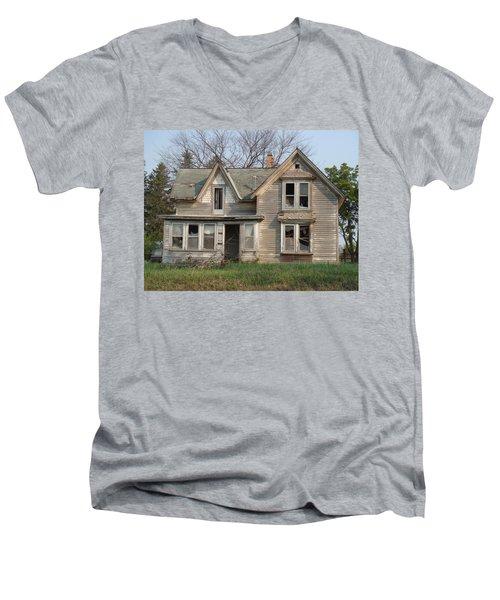Men's V-Neck T-Shirt featuring the photograph Defiance by Bonfire Photography