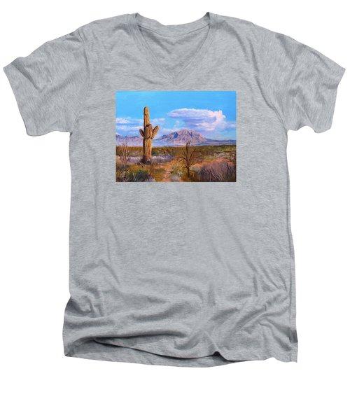 Desert Scene 4 Men's V-Neck T-Shirt by M Diane Bonaparte
