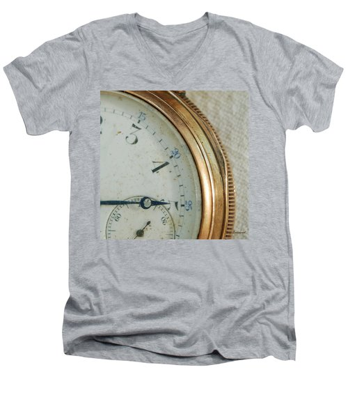 Men's V-Neck T-Shirt featuring the photograph Details Of Time 2 by Kay Lovingood