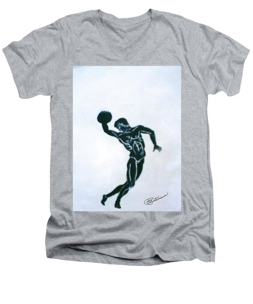 Disc Thrower Men's V-Neck T-Shirt