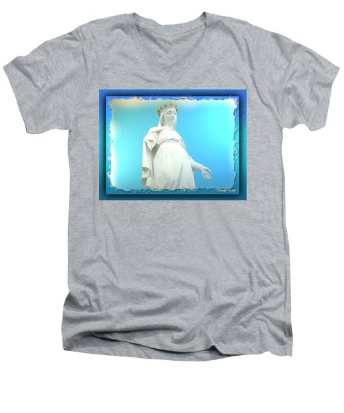 Do-00531 Our Lady Of Lebanon Men's V-Neck T-Shirt