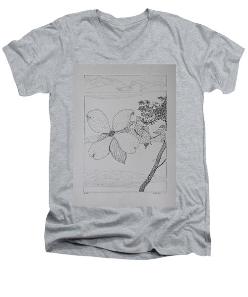 Dogwood  Men's V-Neck T-Shirt