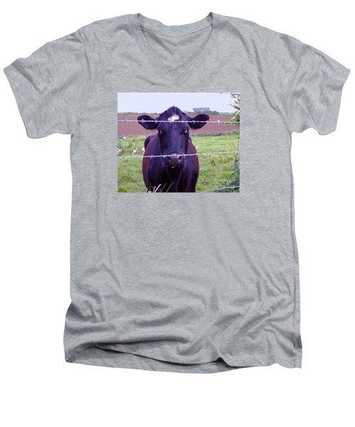 Don't Fence Me In Men's V-Neck T-Shirt