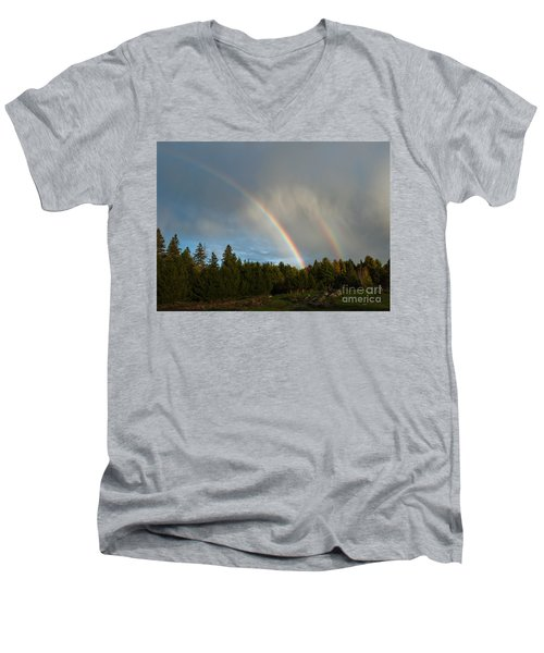 Men's V-Neck T-Shirt featuring the photograph Double Blessing by Cheryl Baxter