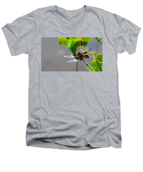 Dragonfly Men's V-Neck T-Shirt by Cindy Manero