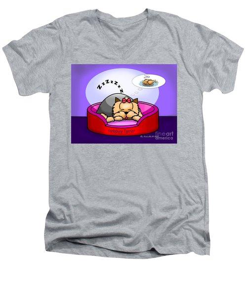 Dreaming Men's V-Neck T-Shirt by Catia Cho