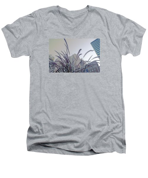 Dreamy City Men's V-Neck T-Shirt by Milena Ilieva