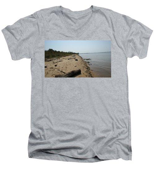 Driftwood Men's V-Neck T-Shirt by Charles Kraus