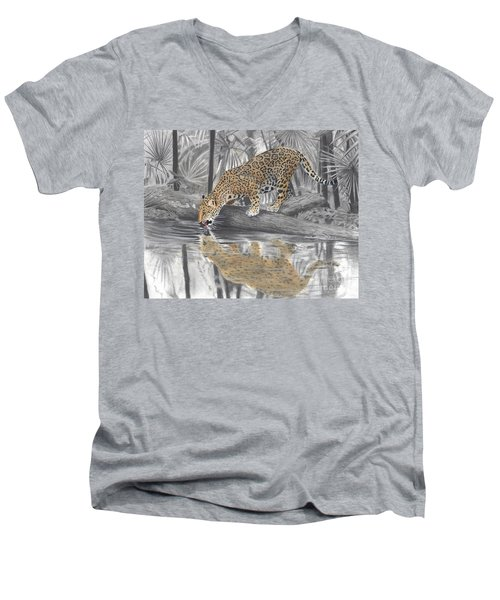 Drinking Jaguar Men's V-Neck T-Shirt
