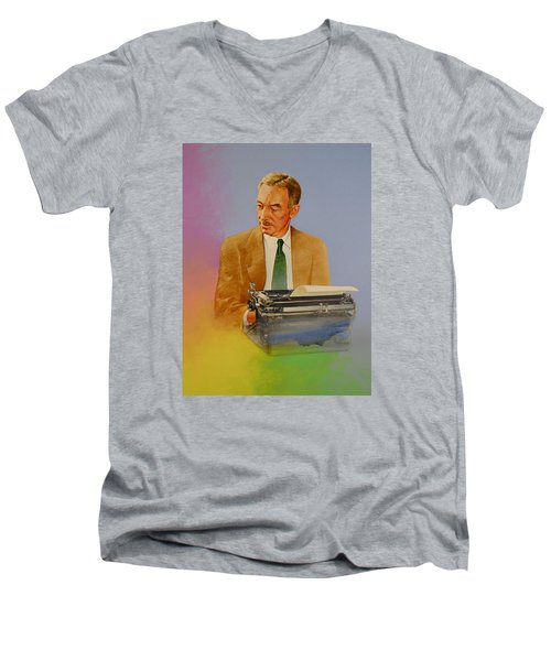 E B White Men's V-Neck T-Shirt