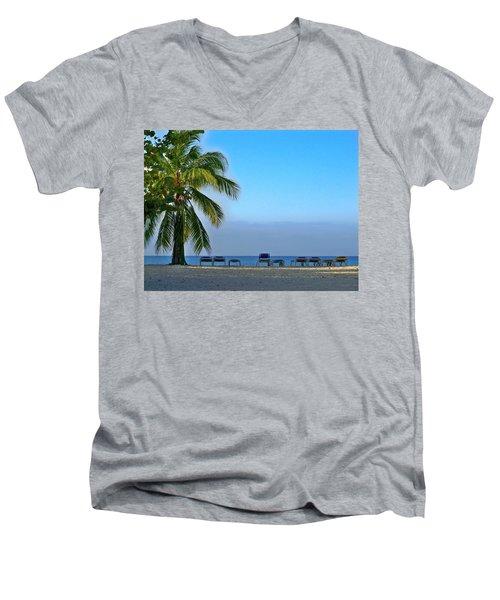 Men's V-Neck T-Shirt featuring the photograph Early Morning Trinidad Cuba by Lynn Bolt