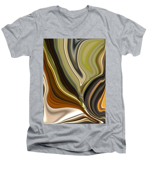 Earth Tones Men's V-Neck T-Shirt by Renate Nadi Wesley