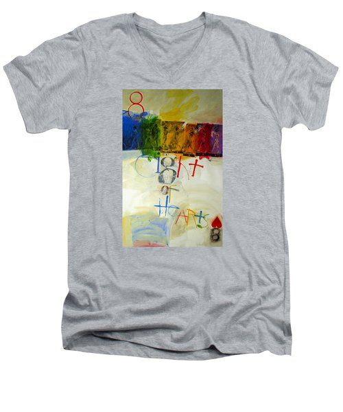Eight Of Hearts 34-52 Men's V-Neck T-Shirt