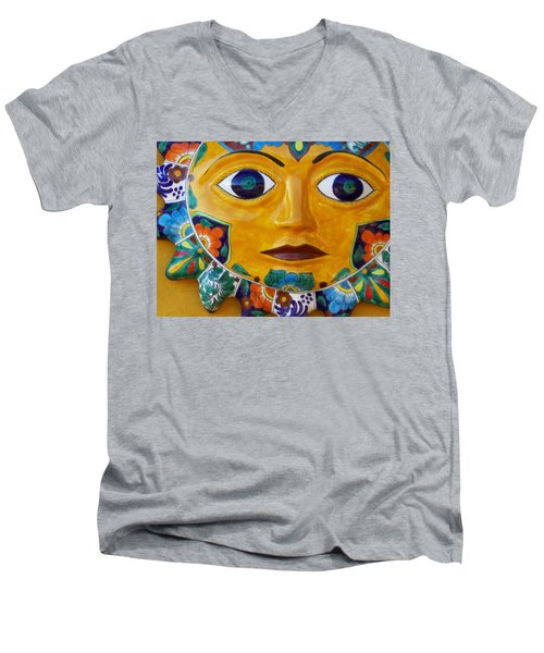 El Sol Men's V-Neck T-Shirt