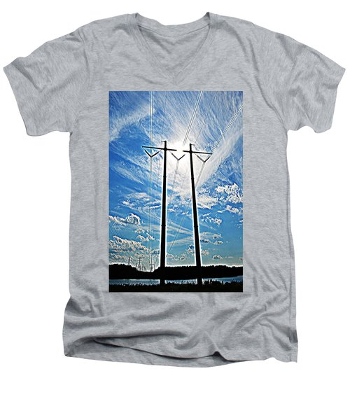 Electric Men's V-Neck T-Shirt