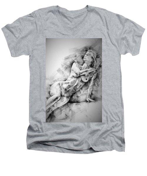 Erotic Sketchbook Page 2 Men's V-Neck T-Shirt
