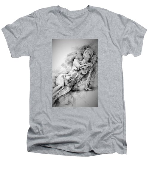 Erotic Sketchbook Page 2 Men's V-Neck T-Shirt