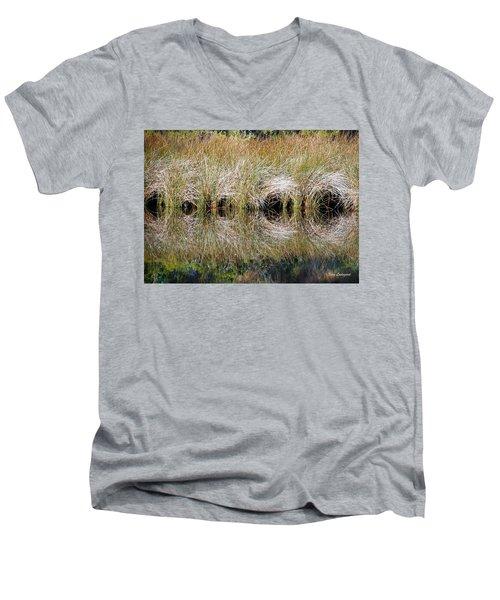 Escape Hatches Men's V-Neck T-Shirt by Kay Lovingood