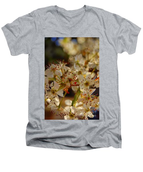 Faded Blossom Men's V-Neck T-Shirt