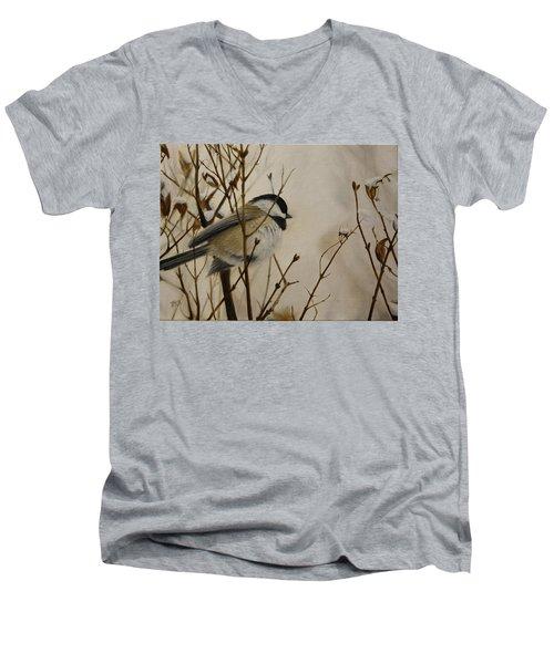 Faithful Winter Friend Men's V-Neck T-Shirt