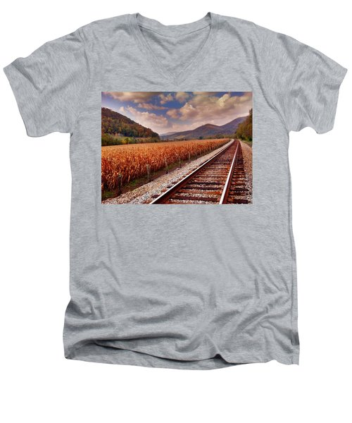 Fall Days Men's V-Neck T-Shirt by Janice Spivey