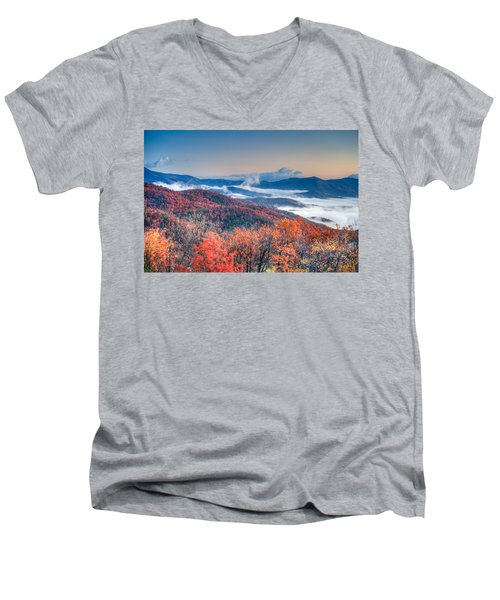 Fall Fog 1 Men's V-Neck T-Shirt