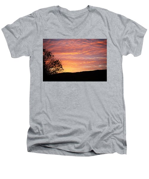 Fall Sunrise Men's V-Neck T-Shirt