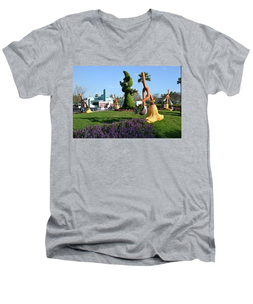 Fantasia In Flowers Men's V-Neck T-Shirt