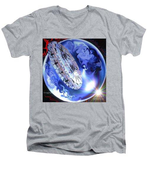 Men's V-Neck T-Shirt featuring the digital art Final Approach by Greg Moores