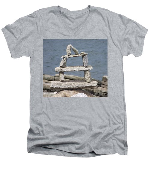 Finding Balance Men's V-Neck T-Shirt