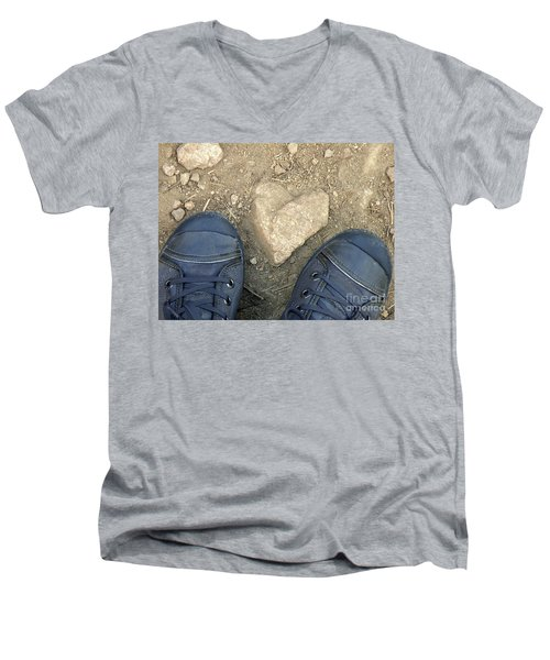 Finding Hearts Men's V-Neck T-Shirt