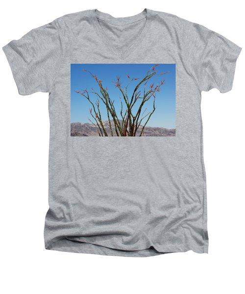 Fingers To The Sky Men's V-Neck T-Shirt