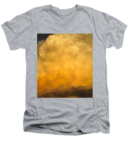 Fire In The Sky Fsp Men's V-Neck T-Shirt by Jim Brage
