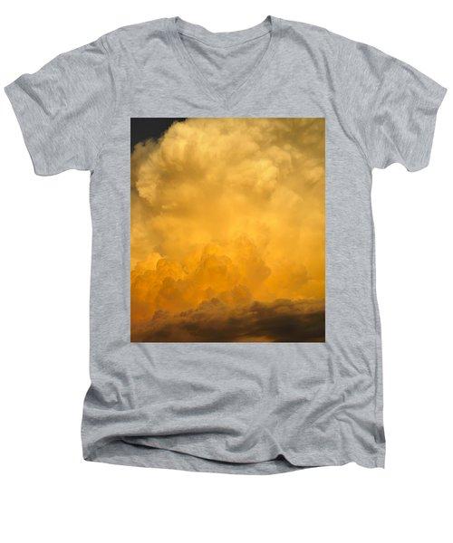 Fire In The Sky Fsp Men's V-Neck T-Shirt
