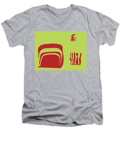 Fire Spirit Cave Men's V-Neck T-Shirt