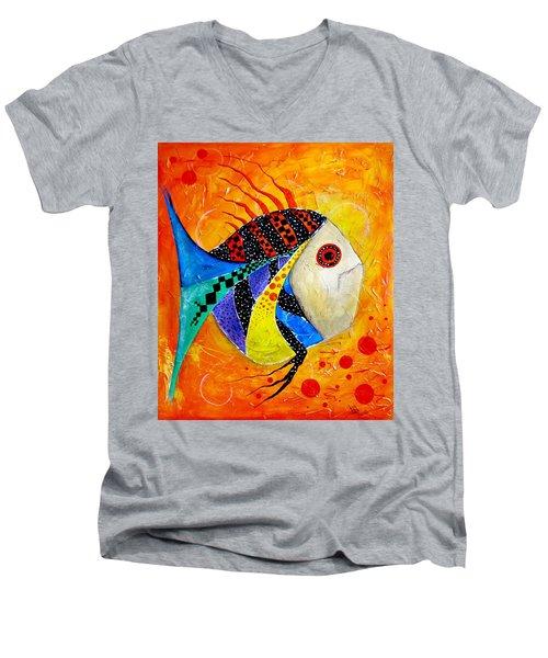 Fish Splatter II Men's V-Neck T-Shirt