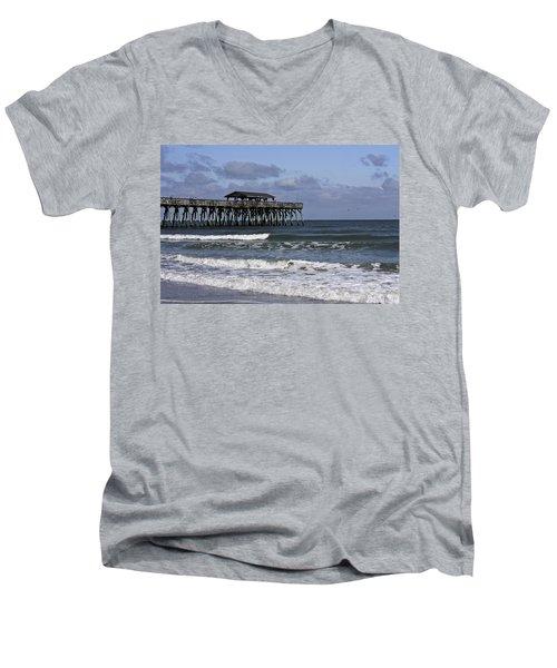 Fishing On The Pier Men's V-Neck T-Shirt