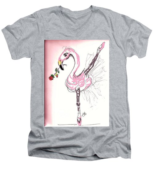 Flamenco Flamingo Men's V-Neck T-Shirt