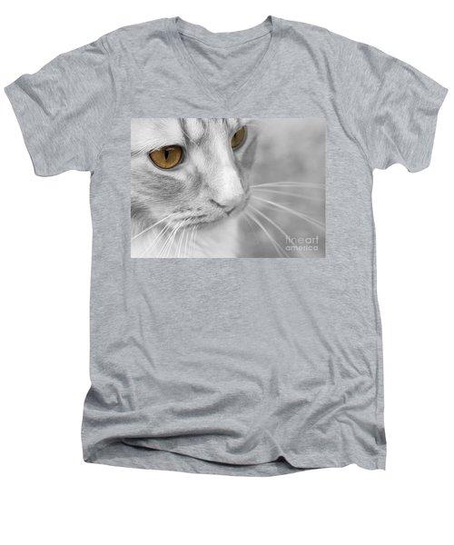 Flitwick The Cat Men's V-Neck T-Shirt by Jeannette Hunt