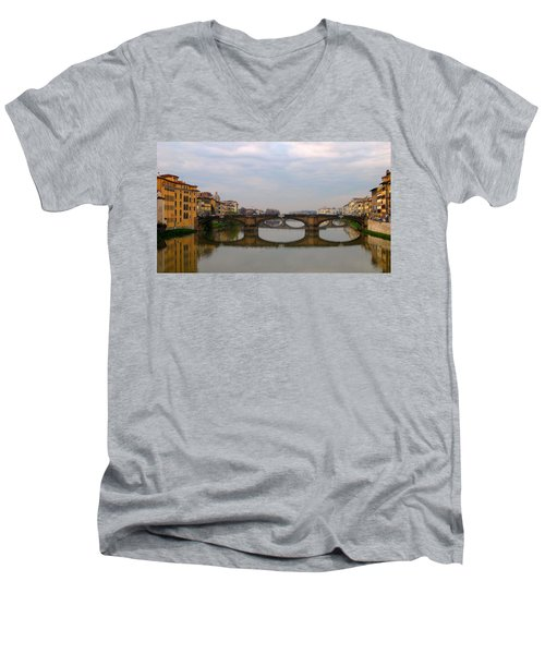 Florence Italy Bridge Men's V-Neck T-Shirt