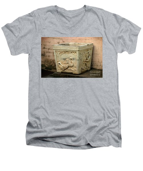Flower Pot Men's V-Neck T-Shirt