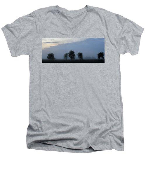 Foggy Pennsylvania Treeline Men's V-Neck T-Shirt