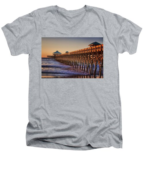 Folly Beach Pier Men's V-Neck T-Shirt