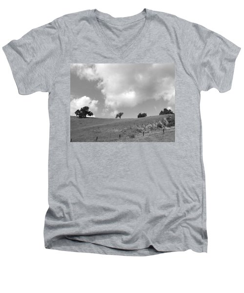 Men's V-Neck T-Shirt featuring the photograph Four On The Hill by Kathleen Grace