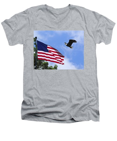 Men's V-Neck T-Shirt featuring the photograph Freedom Feeds The Family by Randall Branham