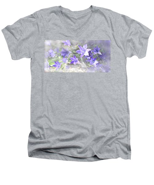 Men's V-Neck T-Shirt featuring the photograph From My Garden by Kume Bryant