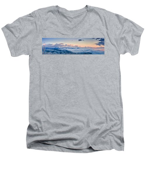 Men's V-Neck T-Shirt featuring the photograph Frosty Morning by Joye Ardyn Durham