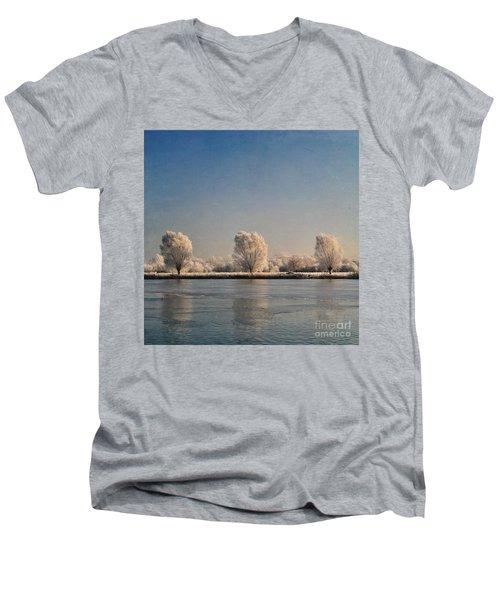 Frozen Lake Men's V-Neck T-Shirt by Lyn Randle
