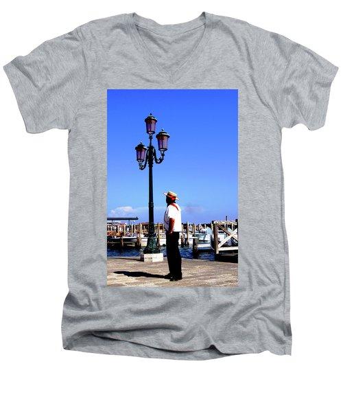 Gandola Captain Men's V-Neck T-Shirt