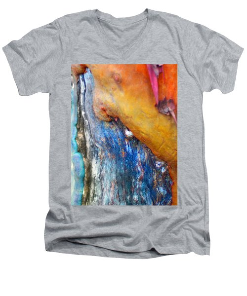 Men's V-Neck T-Shirt featuring the digital art Ganesh by Richard Laeton